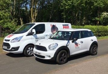 Our Banbury Pest Control vehicles